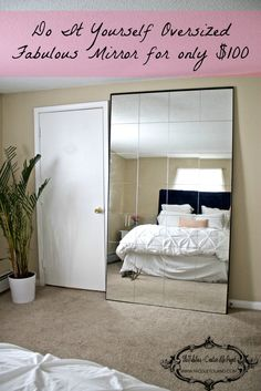 DIY oversized mirror > Ladies dream come true > look fabulous every damn day www.nicoletoland.com