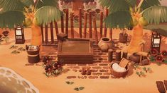 I've been a silent observer of this subreddit a LONG time - now I wanted to share some of my creations! Here is a relaxing little beach spa I made - hope you enjoy! : AnimalCrossing Animal Crossing Wild World, Animal Crossing Guide, Animal Crossing Villagers, Motif Photo, Wild Animals Photos, Ac New Leaf, Motifs Animal, Animal Games, Island Design
