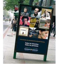 Campaña en exterior y TV con motivo de la celebración del día internacional de los derechos humanos.