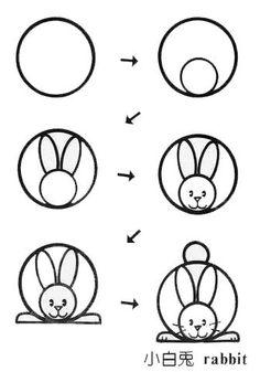 儿童简笔画幼儿简笔画小白兔画法
