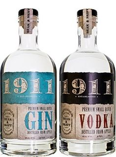 1911 Vodka and Gin are made from apples distilled exclusively on a farm that has been in the same family for over a century.