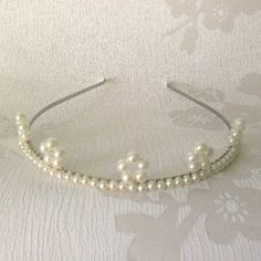 Small Ivory Pearl Tiara Crown - Bridal Tiara - Handmade Wedding - Pearl Tiara on Etsy, £25.00
