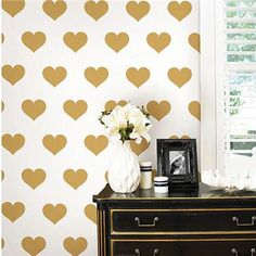 Wall Pops Gold Heart Minipop Wall Decals - Wall Sticker Outlet