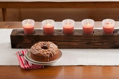 How To: Make a Wooden Candle Centerpiece » Curbly | DIY Design Community