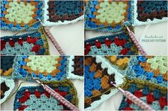 Attaching granny squares together