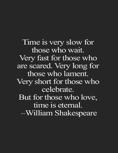 Time is very slow