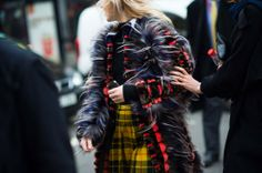 On the Streets of London Fashion Week Fall 2014 - LFW Street Style