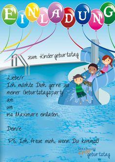 einladung kindergeburtstag text ausdrucken | einladungen, Einladung