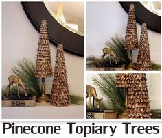 Somewhat quirky pine cone christmas trees bazaar pinterest 100 craft store gift card giveaway special styrofoam holiday link party negle Choice Image