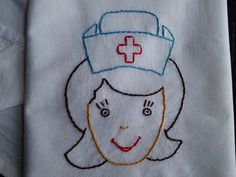 Nurse embroidered tea towel flour sack towel by HooksAndRoses, $20.00 - For an extra $8 can be customized with your favorite nurse's name and title