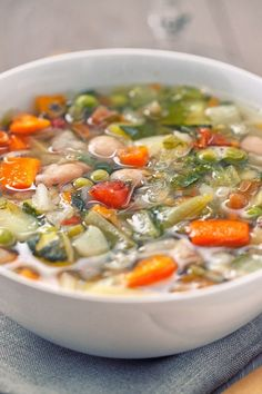 Slow Cooker Minestrone Soup (Weight Watchers)