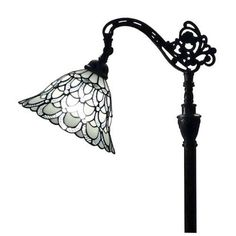 Tiffany Style Floor Lamp Craftsmen Victorian Vintage Light Stained Glass Shade #Unbranded