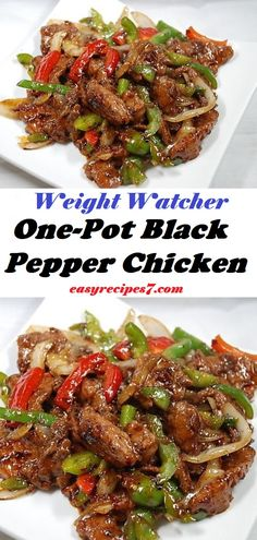 Southeast Asian One-Pot Black Pepper Chicken dish is a spicy and savory del. This Southeast Asian One-Pot Black Pepper Chicken dish is a spicy and savory del. Meat Recipes, Asian Recipes, Cooking Recipes, Healthy Recipes, Spicy Food Recipes, One Pot Recipes, Asian Dinner Recipes, Pepper Recipes, Italian Recipes