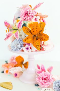 DIY sugar flower cak