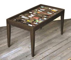 Coffee Table Made For A Printer's Type Tray Or Letterpress Type Box To Display…