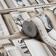 Enycyclopedia Beige Wallpaper   Departments   DIY at B&Q