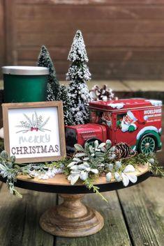 Christmas Tree Village Display, Gingerbread Christmas Decor, Dollar Tree Christmas, Christmas Villages, Christmas Diy, Christmas Decorations, Christmas Vignette, Christmas Arrangements, Christmas Night