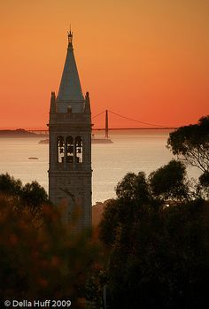 Campanile Sunset - Berkeley Hills, California
