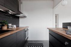 Kohde - Bo LKV Kitchen Dining, Kitchen Ideas, Interior Design, Grey, Black, Home Decor, Nest Design, Gray, Decoration Home