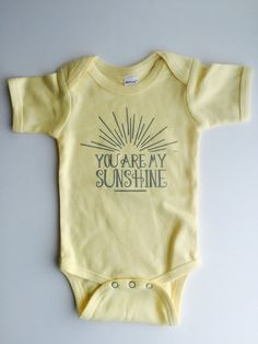 You are my SUNSHINE!!! Time to stock up on baby shower gifts! Such a perfect present for a soon-to-be momma and daddy. This adorable bodysuit also makes