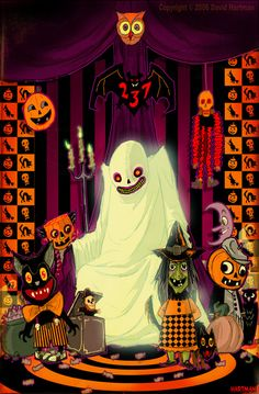 Fun spirit of halloween art