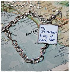 US Navy Hero reversible bracelet by Son and Sea free by sonandsea, $26.00 Great for Navy mom, sister, grandma, girlfriend, SO, aunt!