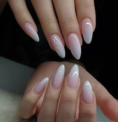 Awesome Bright Almond Nail Design Idea You Are Looking For - Page 2 of 10 - Dazhimen White Acrylic Nails, Almond Acrylic Nails, Best Acrylic Nails, Classy Nails, Trendy Nails, Cute Nails, May Nails, Pink Nails, Almond Nails Designs