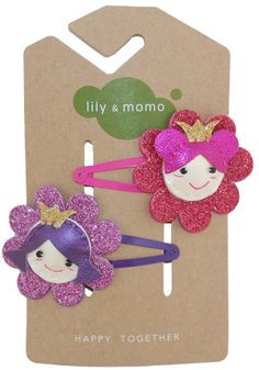 Flower princess hair clip by Lily and Momo.