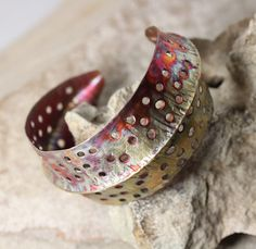 Industrial Revolution Foldformed Copper Cuff by IronMountainArts on Etsy
