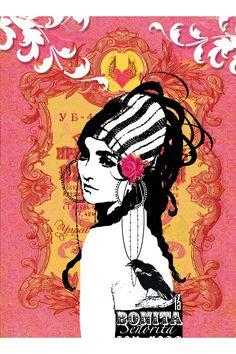 PAPAYA! Art Bonita - 5x7 Card - Shop