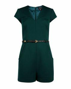 Jersey playsuit - Dark Green   Playsuits & Jumpsuits   Ted Baker DE