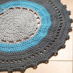 Great big crochet thing :)) A bathroom rug!