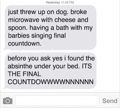 The person who has just regressed. | 19 Texts That Prove Drunk People Are The Absolute Worst