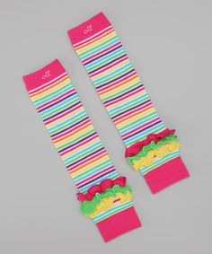 Draw inspiration from the runways and let these leg warmers brighten up skirts with a pop of color and radiant ruffles. The stretchy material is guaranteed to fit little gams of all sizes, so bring on the growth spurts!
