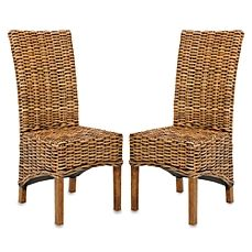 image of Safavieh Isla Side Chairs in Brown (Set of 2)