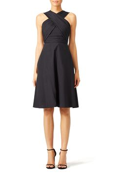 7b6bf65e44 Carven Black Criss Cross Dress Fashion Reboot Your Wardrobe with Top Brand  Fashion for Hire