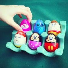 Pretty Egg Painting Idea from Disney Parks Easter Egg Hunt