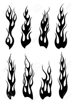 16441912-Set-black-tribal-Flammen-T-towierung-oder-einem-anderen-Design-Lizenzfreie-Bilder.jpg (893×1300)