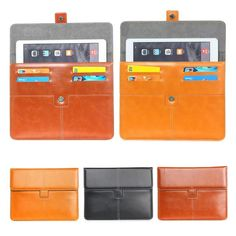 13.54$  Buy here - http://ali2pk.shopchina.info/go.php?t=32721091520 - For Apple ipad pro 9.7 inch Leather Case Cover For Universal 9-10 inch Android Tablet Pouch bags w/ Cards Holder S2D48D 13.54$ #SHOPPING