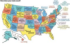 What Your State Is Good At, And What It's Lame At