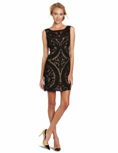 Yoana Baraschi Womens New Wave Cocktail Dress, Black/Nude, 6.  check discount today! click picture on top.