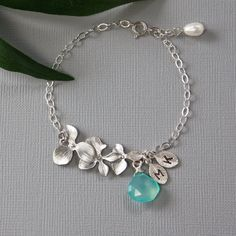 Personalized Jewelry  Exquisite Orchid Silver by MenuetDesigns, $36.50