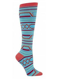 Sock It To Me Socks Women's Knee Funky: Geo Print I love my socks and funny^^