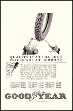 1922 Goodyear Tires Illustrated Print Ad 1920s RARE Old Print Ad | eBay