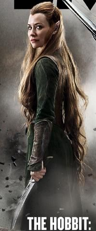 Evangeline Lilly as Tauriel (completely made up and in no way related to the book, but still looks pretty badass)  in The Hobbit: The Desolation of Smaug