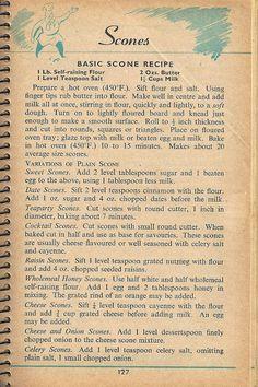 ★ Elle's Kitchen: ※ Vintage Scan - Scone Recipe (1955)