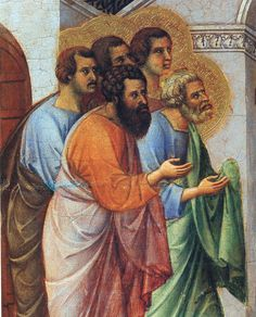 Appearance of Christ to the apostles (Fragment) by @artbuoninsegna #protorenaissance