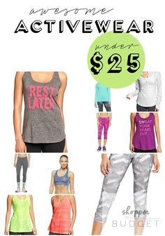 Break a sweat, not your budget with this awesome activewear for women all under $25!