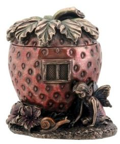 Strawberry House Box Jewelry Holder Fairy Decoration Decor Collectible --- http://www.amazon.com/Strawberry-Jewelry-Holder-Decoration-Collectible/dp/B003V0YEEY/?tag=affpicntip-20