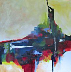 Original abstract, modern painting 48X48. http://www.JaneRobinsonAbstractArt.com